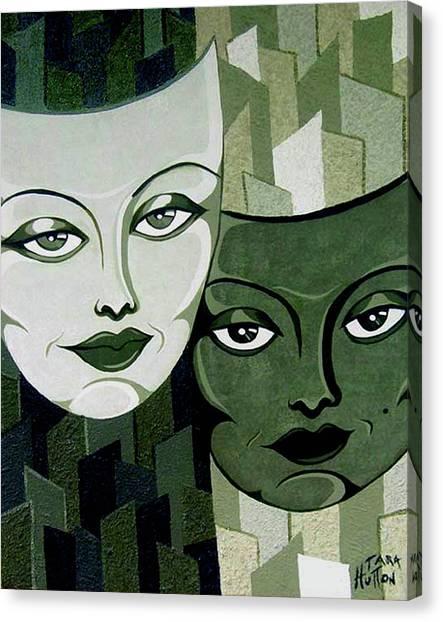 Masks Verde Canvas Print