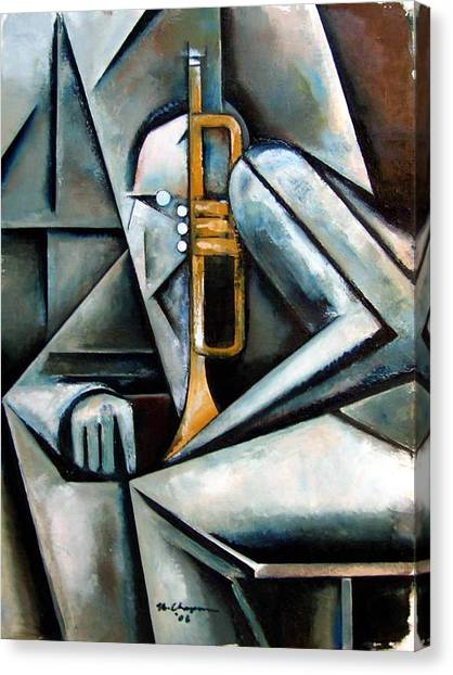 Trumpet Canvas Print - Masqualero by Martel Chapman