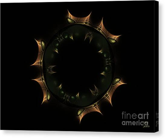Masque Du Temps Canvas Print by Dom Creations