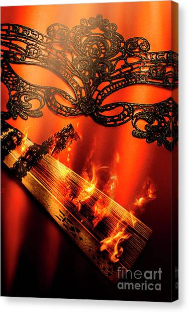 Fire Ball Canvas Print - Masquerade Of Passion by Jorgo Photography - Wall Art Gallery
