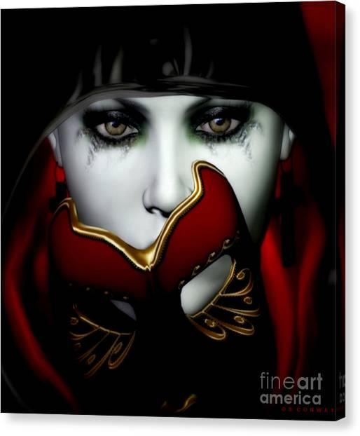 Masquerade Canvas Print - Masquerade by Shanina Conway