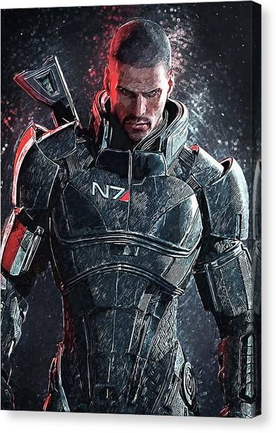 Xbox Canvas Print - Mass Effect by Zapista