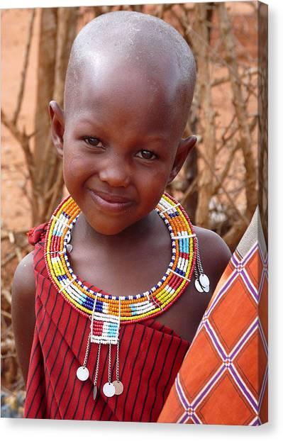 Massai Child Canvas Print