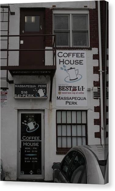 Massapequa Perk Home Of Jack Rice Coffee Canvas Print