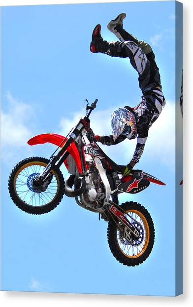 Motocross Canvas Print - Massive Air by Craig Incardone