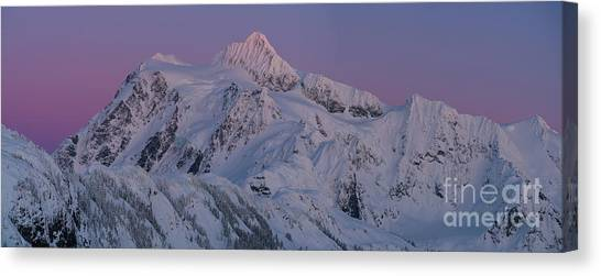 Table Mountain Canvas Print - Massive Mount Shuksan Dusk Sunset Panorama by Mike Reid