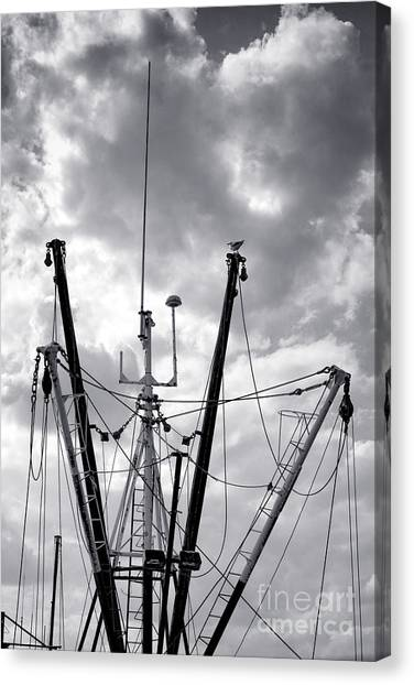 Jibbing Canvas Print - Mast And Booms by Olivier Le Queinec