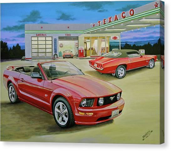 Mast Mustang Canvas Print by Branden Hochstetler