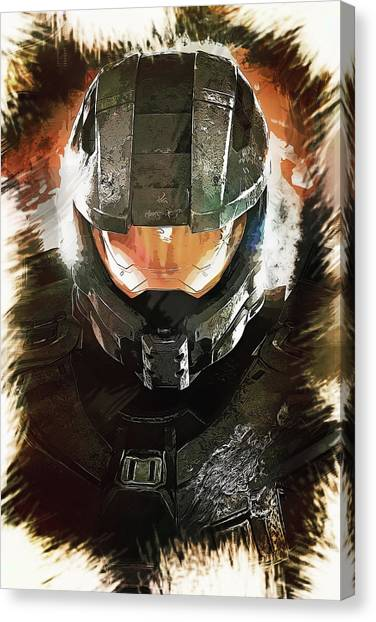 Gaming Consoles Canvas Print - Master Chief by Dusan Naumovski