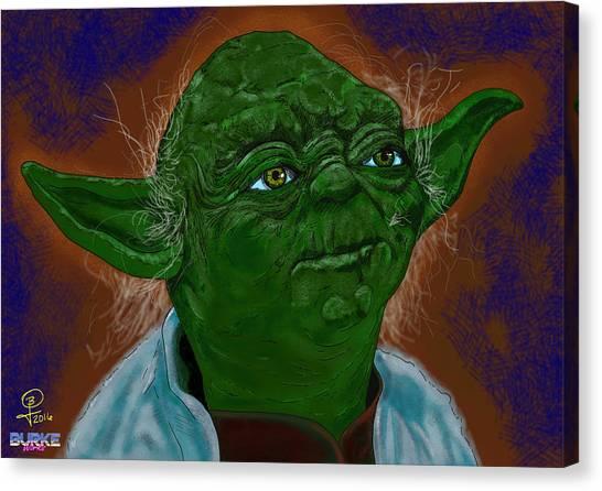 Master Yoda Canvas Print by Joseph Burke