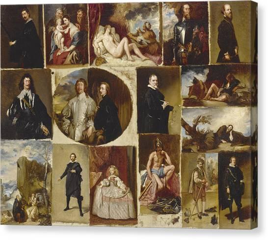 The Prado Canvas Print - Masterpieces From The Prado, A Series Of Sketches by Joan Bauza Mas