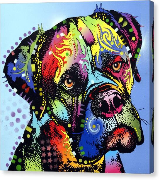 Mastiffs Canvas Print - Mastiff Warrior by Dean Russo Art