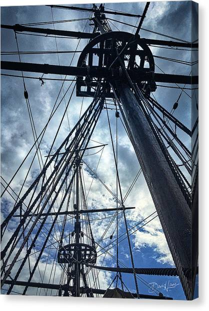 Canvas Print featuring the photograph Masts And Rigging by David A Lane
