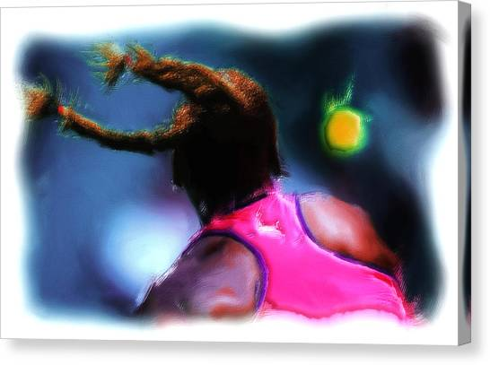 Venus Williams Canvas Print - Match Point by Brian Reaves