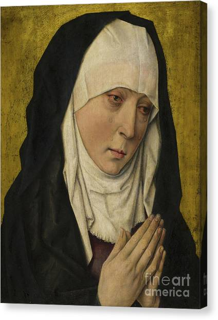Nuns Canvas Print - Mater Dolorosa  Sorrowing Virgin by Dieric the Elder Bouts