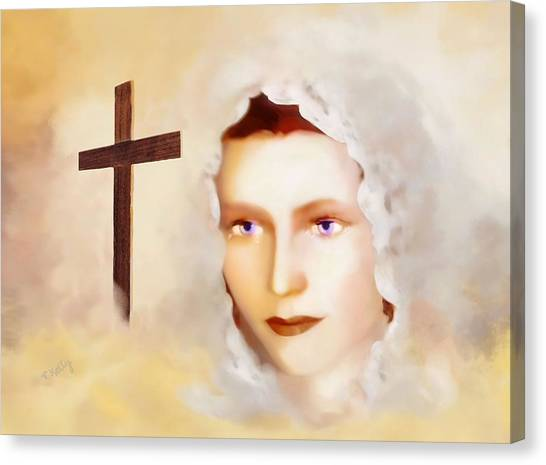 Mater Dolorosa Canvas Print by Valerie Anne Kelly