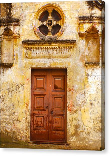 Matera Church Door Canvas Print