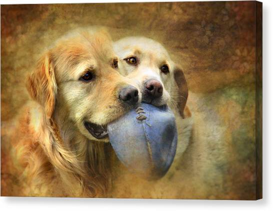 Mates Canvas Print by Trudi Simmonds