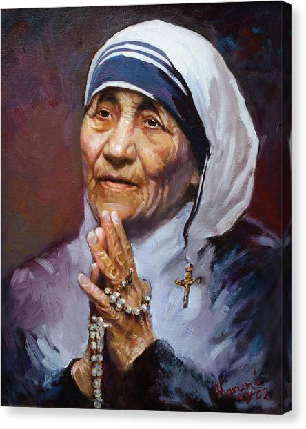 People Canvas Print - Mother Teresa by Ylli Haruni