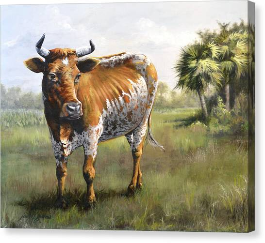 On The Florida Prairie Matilda Canvas Print