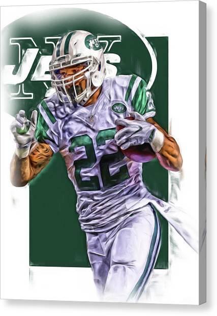 New York Jets Canvas Print - Matt Forte New York Jets Oil Art by Joe Hamilton