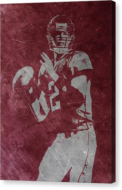 Matt Ryan Canvas Print - Matt Ryan Atlanta Falcons 2 by Joe Hamilton