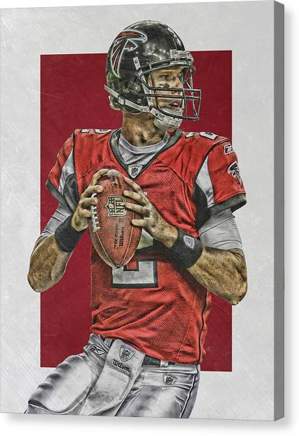 Matt Ryan Canvas Print - Matt Ryan Atlanta Falcons Art 2 by Joe Hamilton