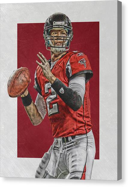 Matt Ryan Canvas Print - Matt Ryan Atlanta Falcons Art by Joe Hamilton