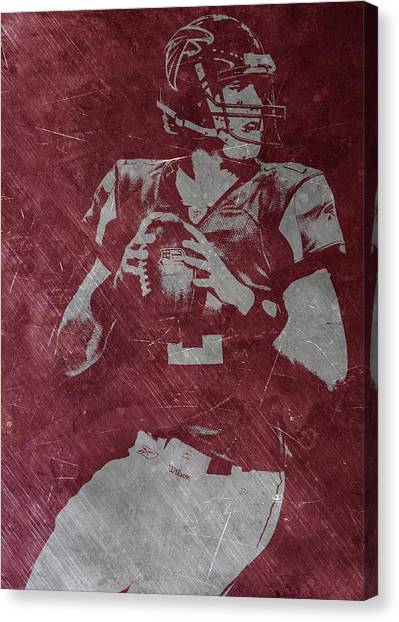 Matt Ryan Canvas Print - Matt Ryan Atlanta Falcons by Joe Hamilton
