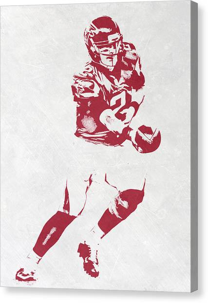 Matt Ryan Canvas Print - Matt Ryan Atlanta Falcons Pixel Art 3 by Joe Hamilton
