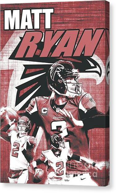 Matt Ryan Canvas Print - Matt Ryan  by Christopher Finnicum
