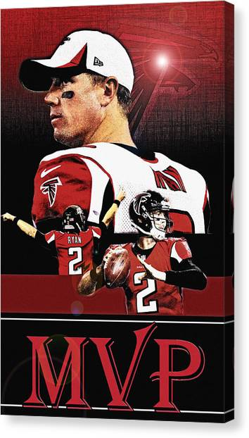 Matt Ryan Canvas Print - Matt Ryan Mvp by Christopher Finnicum