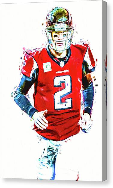 Matt Ryan Canvas Print - Matt Ryan Qb Atlanta Falcons Digital Painting by David Haskett II