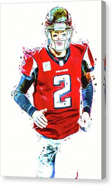 Matt Ryan Canvas Print - Matt Ryan Qb Atlanta Falcons Digital Painting by David Haskett
