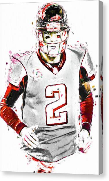 Matt Ryan Canvas Print - Matt Ryan Qb Falcons Painting Digital by David Haskett II