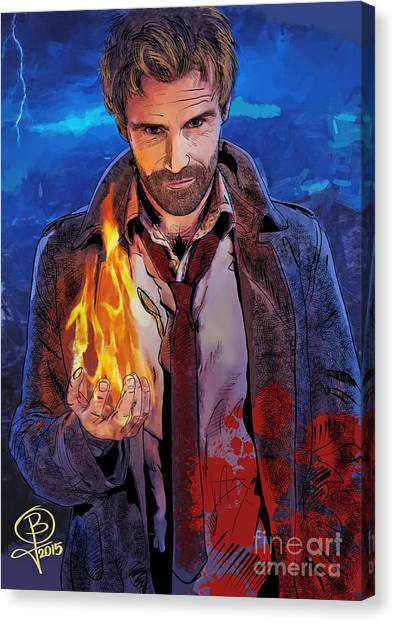 Matt Ryan Canvas Print - Matt Ryan's Constantine by Joseph Burke