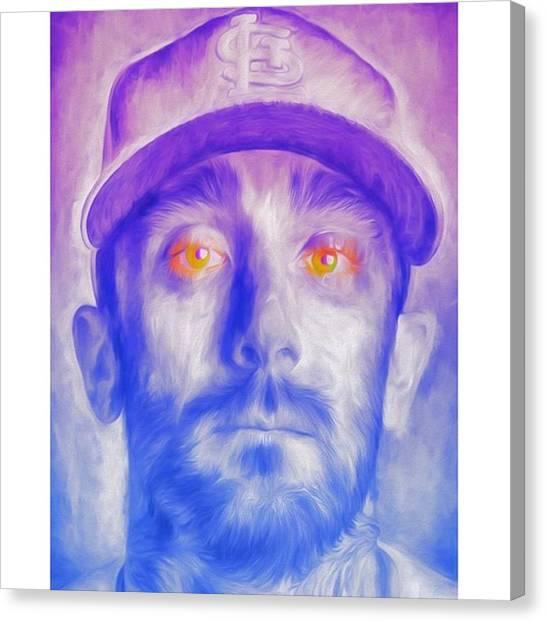 Baseball Canvas Print - #mattcarpenter #mattcarpenter13 by David Haskett