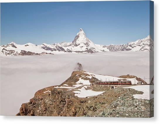 Matterhorn And Fog Canvas Print