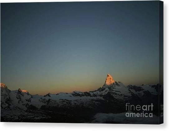 Matterhorn At Sunrise Canvas Print