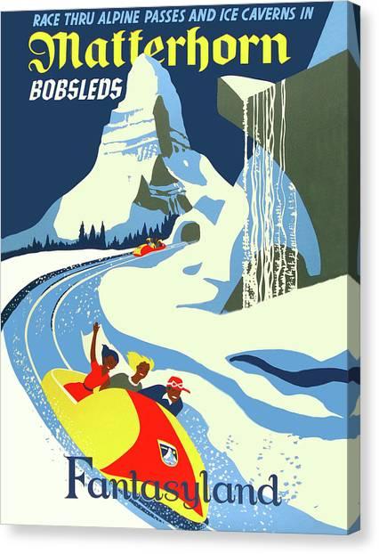 Matterhorn Canvas Print - Matterhorn Bob Race by Long Shot