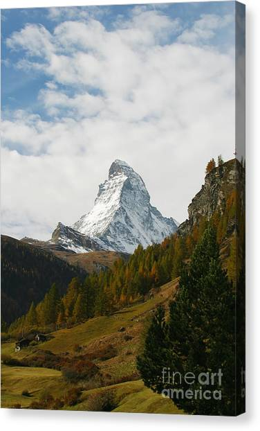 Matterhorn In The Fall Canvas Print