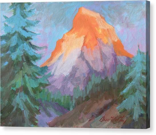 Matterhorn Canvas Print - Matterhorn Sunrise by Diane McClary