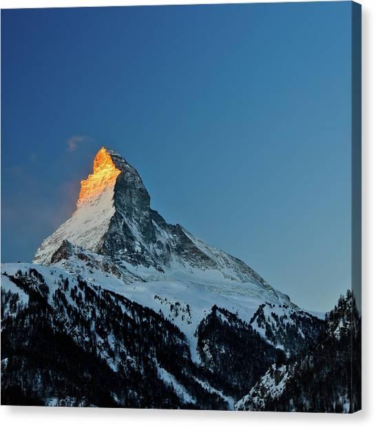 Matterhorn Canvas Print - Matterhorn Switzerland Sunrise by Maria Swärd