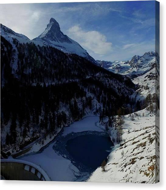 Matterhorn Canvas Print - #matterhorn #zermatt by Natus Valais