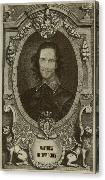 Celebrities Canvas Print - Matthew Mcconaughey   by Serge Averbukh
