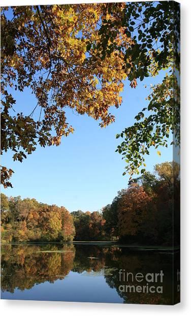 Matthiessen Lake In Autumn Canvas Print