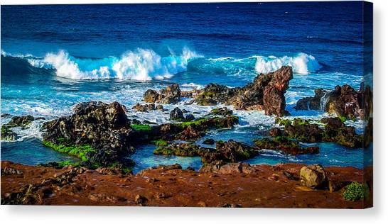Maui Hawaii Breaking Surf  Canvas Print