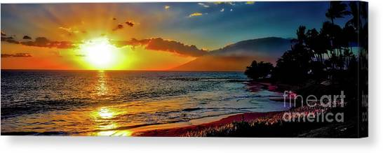 Maui Wedding Beach Sunset  Canvas Print