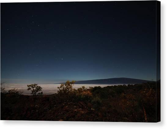 Mauna Loa Canvas Print - Mauna Loa At Night by Ty Helbach