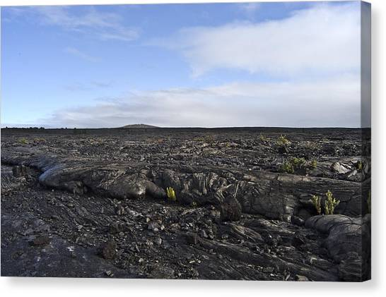 Mauna Loa Canvas Print - Mauna Loa Lava by Robert Ponzoni